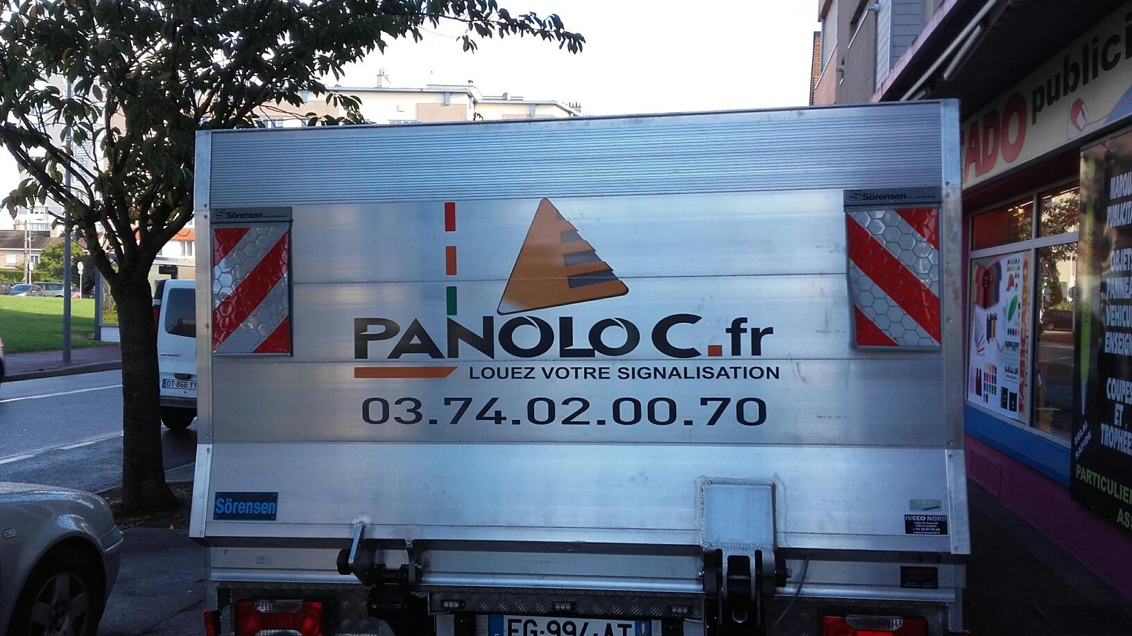 Marquage Camionnette Arrière - Fabicado Lille